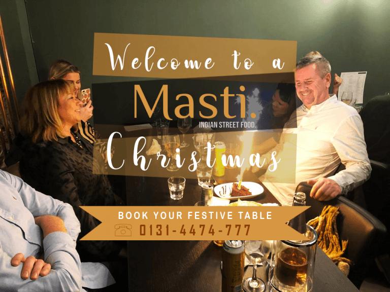 Restaurant for Christmas in Edinburgh